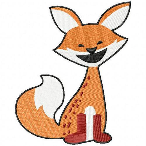 Baby Fox - Woodland Animals #01 Machine Embroidery Design