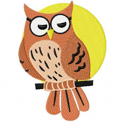 Owly Owl - Woodland Animals #02 Machine Embroidery Design