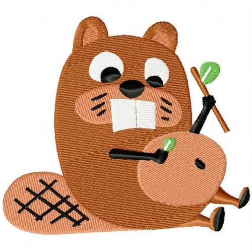 Beaver - Woodland Animals #03 Machine Embroidery Design