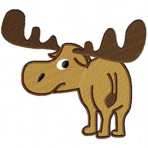 Moose - Woodland Animals #07 Machine Embroidery Design