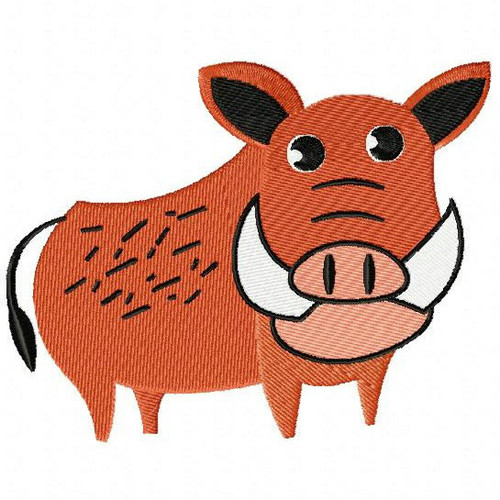 Warthog - Safari Animals #13 Machine Embroidery Design