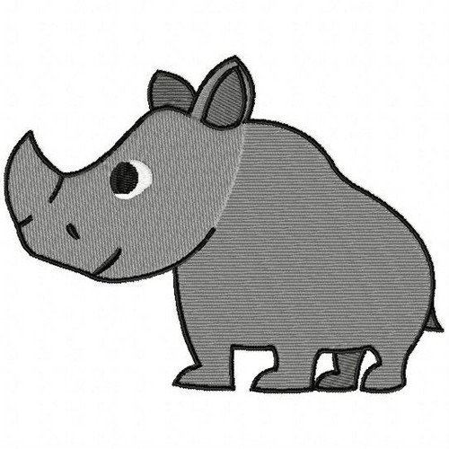 Rhino - Safari Animals #14 Machine Embroidery Design