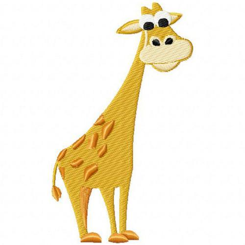 Giraffe - Safari Animals #15 Machine Embroidery Design
