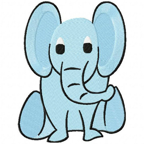Baby Elephant - Safari Animals #17 Machine Embroidery Design