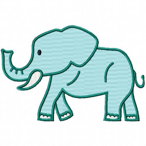 Wild Elephant - Safari Animals #03 Machine Embroidery Design