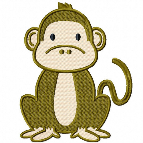 Monkey - Safari Animals #08 Machine Embroidery Design