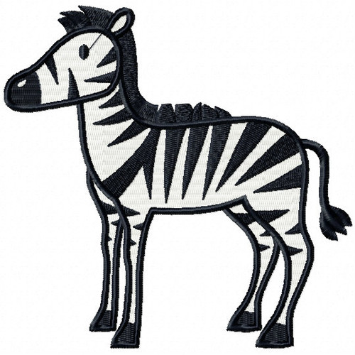 Zebra - Safari Animals #12 Machine Embroidery Design