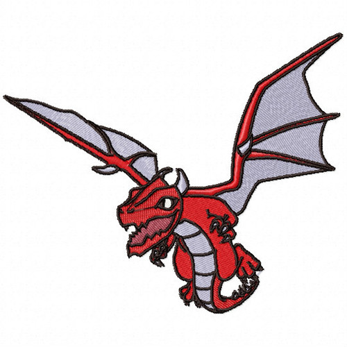 Red Dragon - Dragon Cartoon #04 Machine Embroidery Design