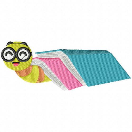 Book Blanket - Bookworm #05 Machine Embroidery Design