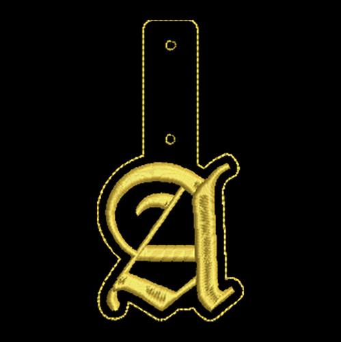 """Olde English Key Fob """"A"""""""