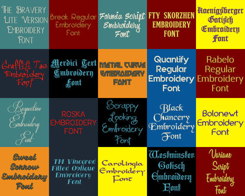 BX Fonts - 20 Embrilliance fonts