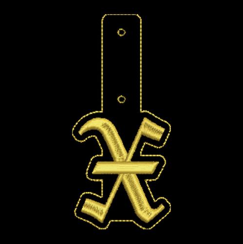 """Olde English Key Fob """"X"""""""