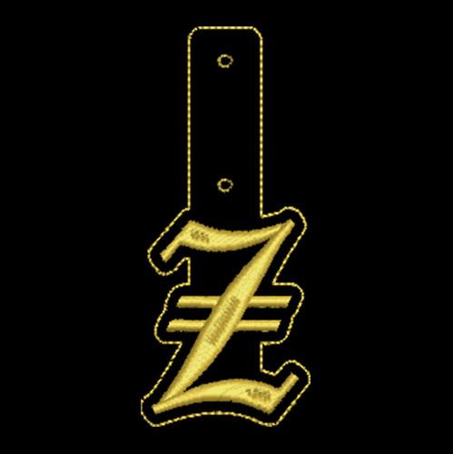 "Olde English Key Fob ""Z"""