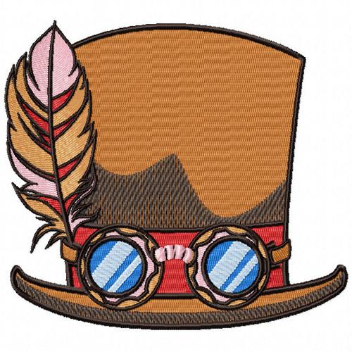 Steampunk Top Hat- Steampunk #04 Machine Embroidery Design