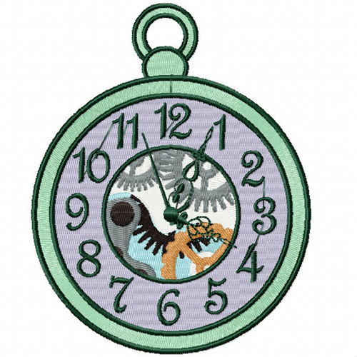 Steampunk Timepiece 02- Steampunk #06 Machine Embroidery Design