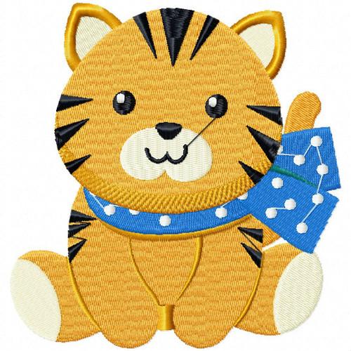 Stuffed Tiger - Stuffed Toy #05 Machine Embroidery Design