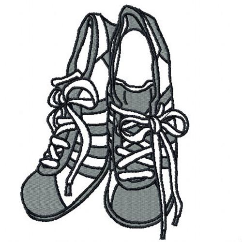 Retro Rubber Shoes - Shoe Collection #02 Machine Embroidery Design