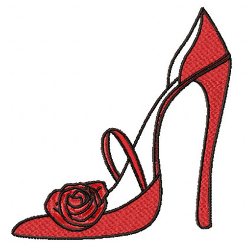 Stilettos - Shoe Collection #05 Machine Embroidery Design