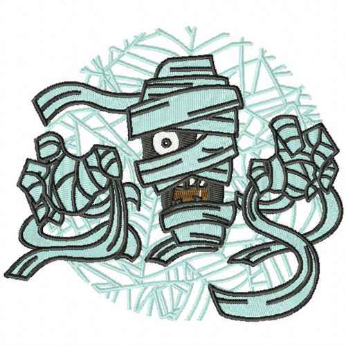 Mummy - Happy Halloween #10 Machine Embroidery Design