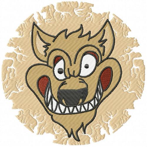 Werewolf - Happy Halloween #12 Machine Embroidery Design