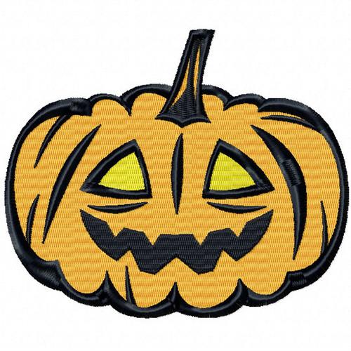 Halloween Jack O Lantern - Halloween #04 Stitched and Applique Machine Embroidery Design
