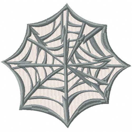 Halloween Web - Halloween #08 Stitched and Applique Machine Embroidery Design