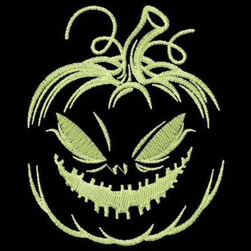 Jack-O-Lantern - Glow in the Dark Halloween #01 Machine Embroidery Design