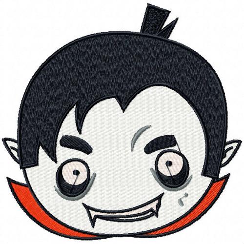 Vampire Head - Halloween Heads #02 Machine Embroidery Design