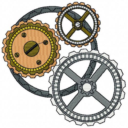 Steampunk Clockwork Gear - Steampunk #09 Machine Embroidery Design
