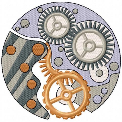 Steampunk Gears - Steampunk #12 Machine Embroidery Design