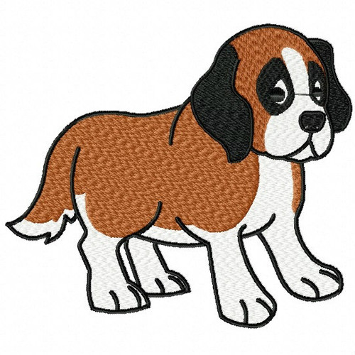 St. Bernard Collection #01 Machine Embroidery Design