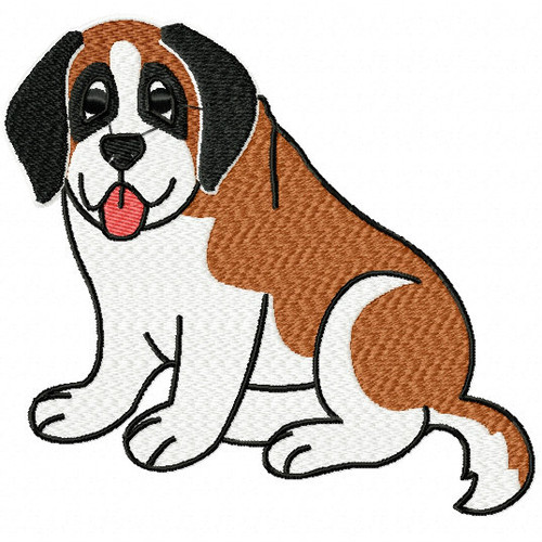 St. Bernard Collection #03 Machine Embroidery Design