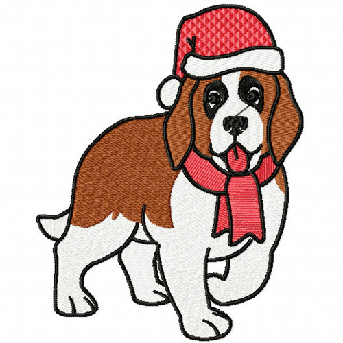 St. Bernard Collection #04 Machine Embroidery Design