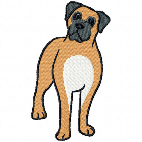 Bullmastiff Collection #01 Machine Embroidery Design