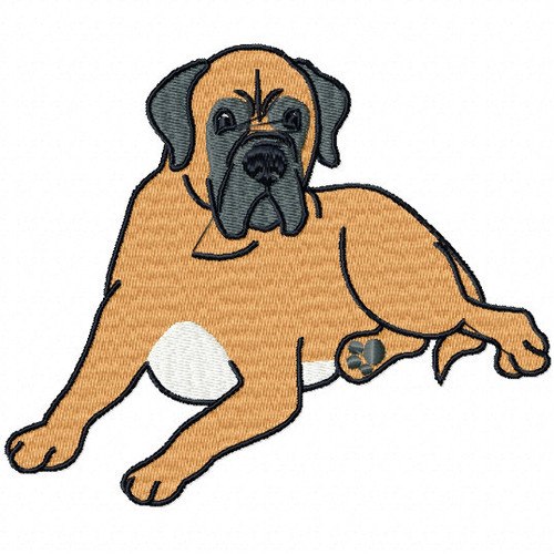 Bullmastiff Collection #03 Machine Embroidery Design