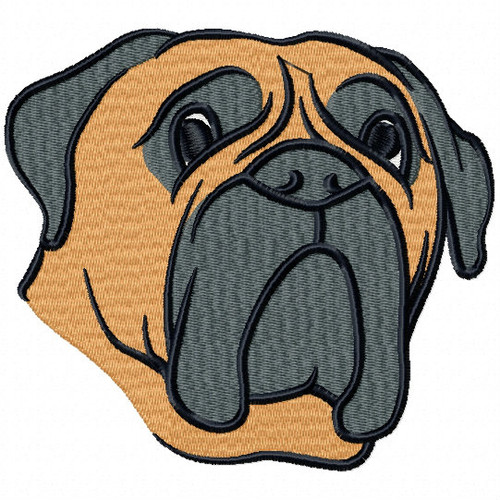 Bullmastiff Collection #04 Machine Embroidery Design