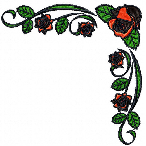 Detailed Rose Pattern Collection #05 Machine Embroidery Design
