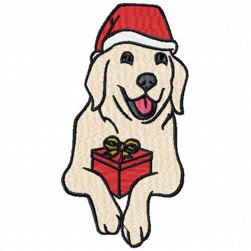 Labrador - Santa Dogs #04 Machine Embroidery Design