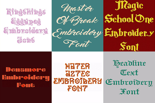 BX Fonts - 20 Embrilliance fonts 3