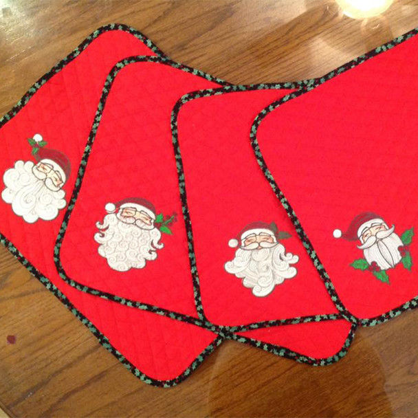Santa Beard Collection of 4 Machine Embroidery Designs in Stitched