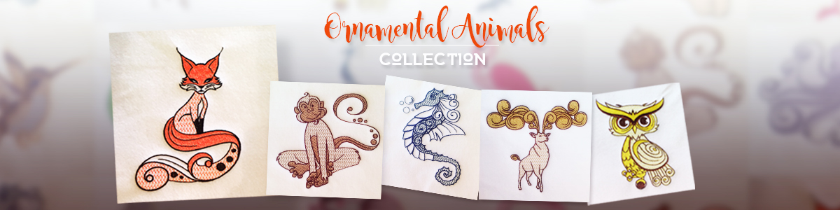 Ornamental Animals - 10 exquisite animal designs in each collection for $20