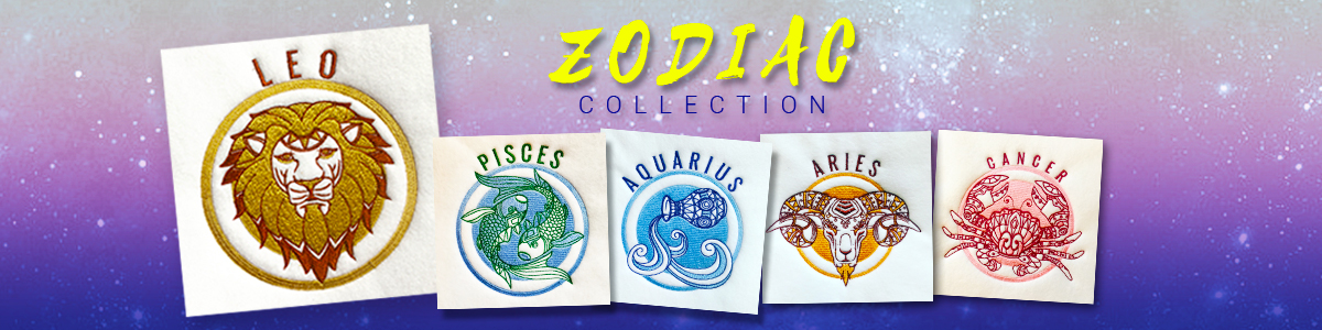 Zodiac Collection - 12 Horoscope designs for $20