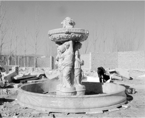 Four Season White Marble Fountain