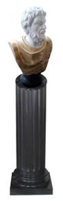 Male Bust on Pedestal - MultiColMarble
