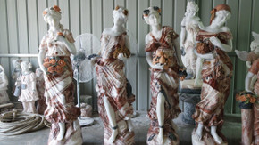 Four Seasons on Base in Multi Colored Marble  17903