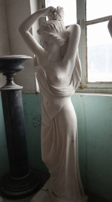 Woman in White Marble Statue 17807