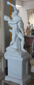 White Marble Carved Replica - Three Forms on Pedestal 6704