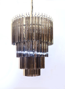 Smoke Crystal Glass Chandelier