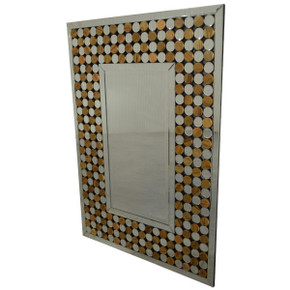 Symetric Wood Art Mirror