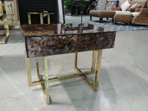 Sienna Marbled Side Table